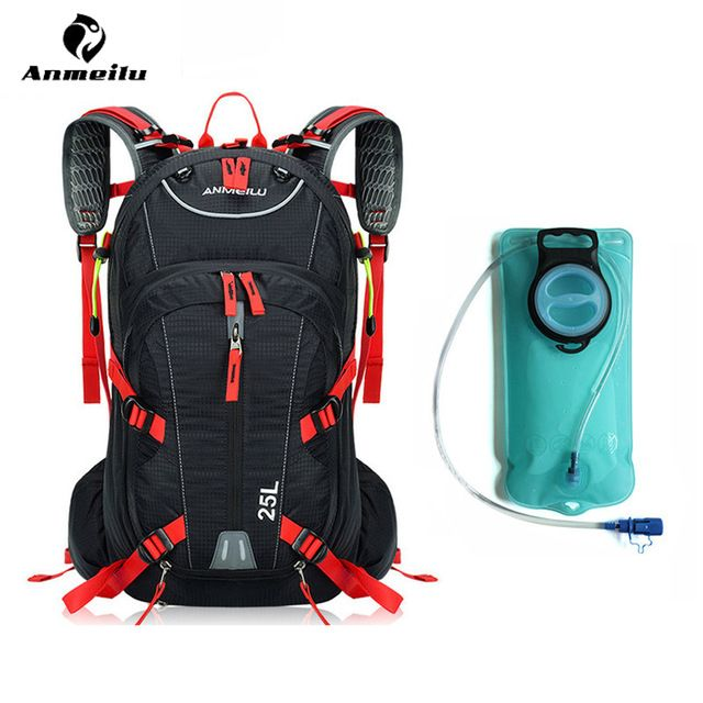 cf491b7e3b Anmeilu Water Bag With Rain Cover Waterproof 25L Outdoor Sport Bag Camping  Climbing Hiking Cycling Backpack Hydration Bladder Review