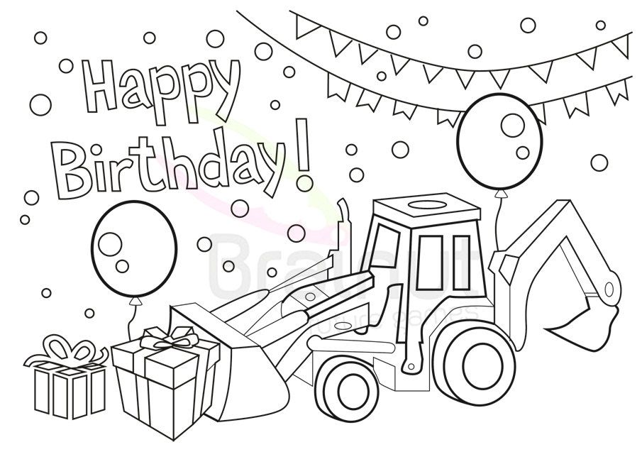 Popular items for birthday coloring on Etsy – Happy Birthday Cards Coloring Pages