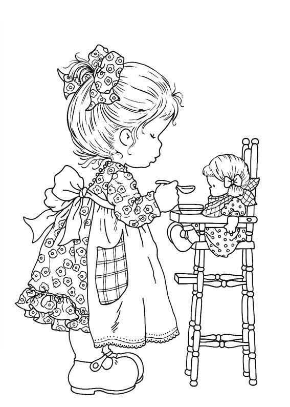 find this pin and more on coloring books and embroidery transfers - Coloring Pages For Little Girls
