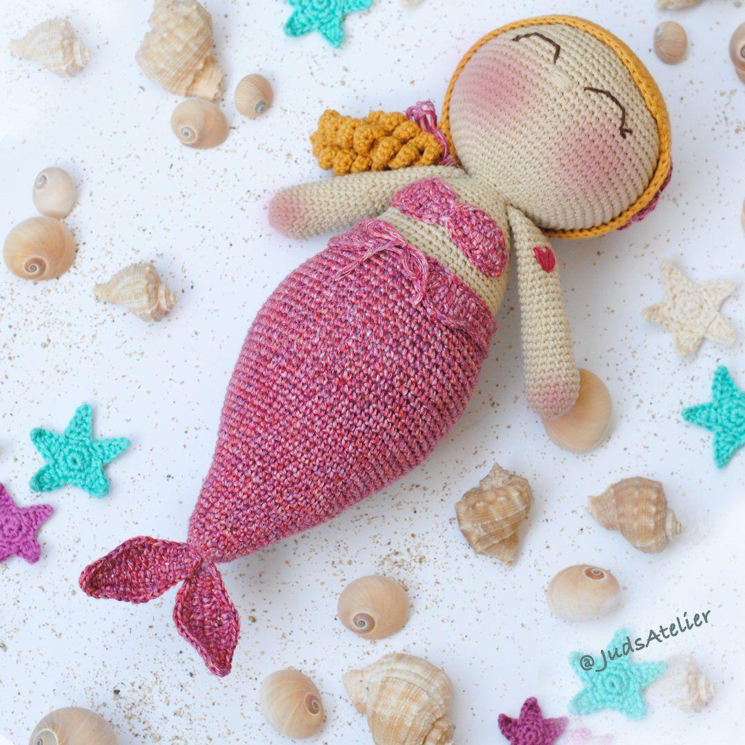 Sirena amigurumi - patrones español - animales amigurumi - patrones ...