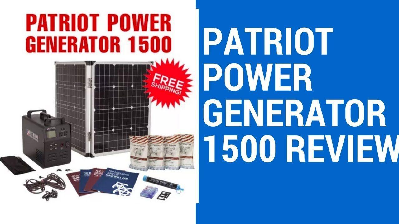 Patriot Power Generator 1500 Review Best Portable Solar Generator Power Generator Solar Generator Solar Energy Panels