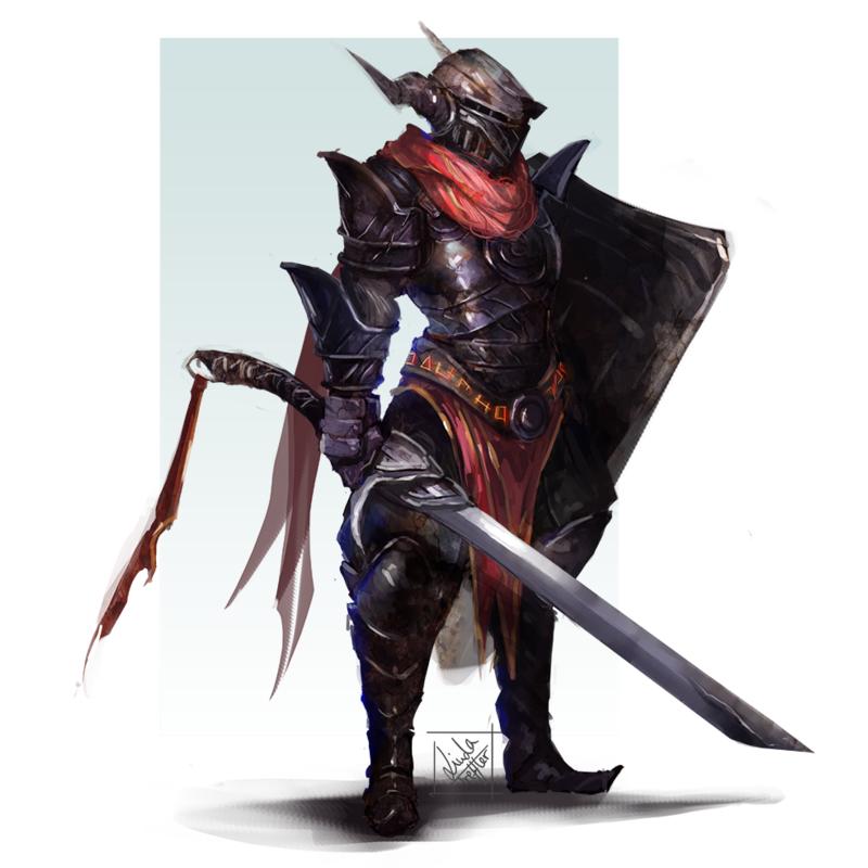 Black Knight By Enigmasystem Scifi Fantasy Art Knight Blackest Knight
