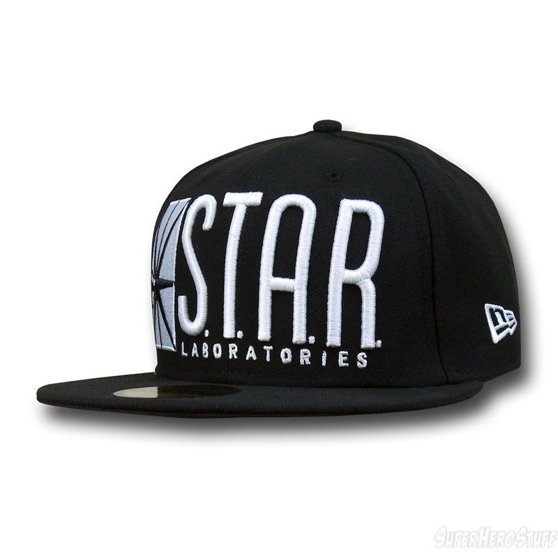 wholesale dealer e885f 8c609 STAR Labs Logo 59Fifty Fitted Baseball Cap by DC COMICS x NEW ERA