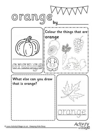 Orange Colour Worksheet Color Worksheets Preschool Colors Color Worksheets For Preschool