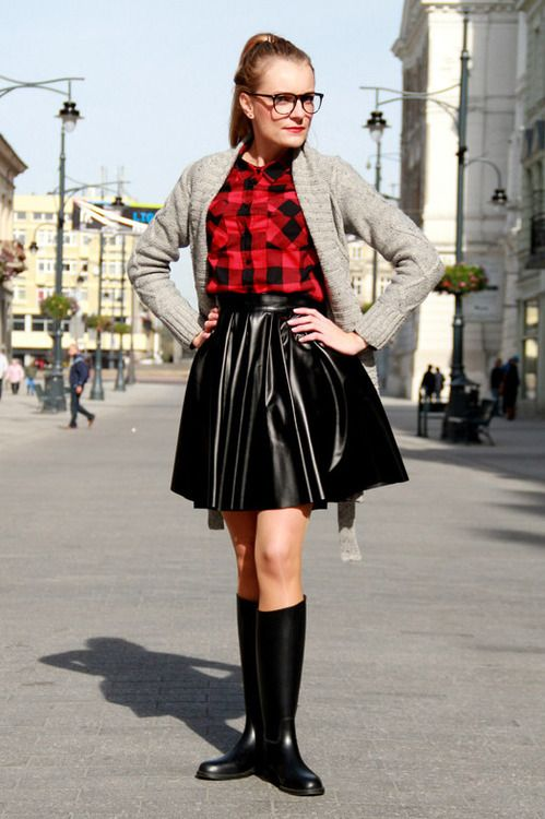 Long Boots Skirt Riding