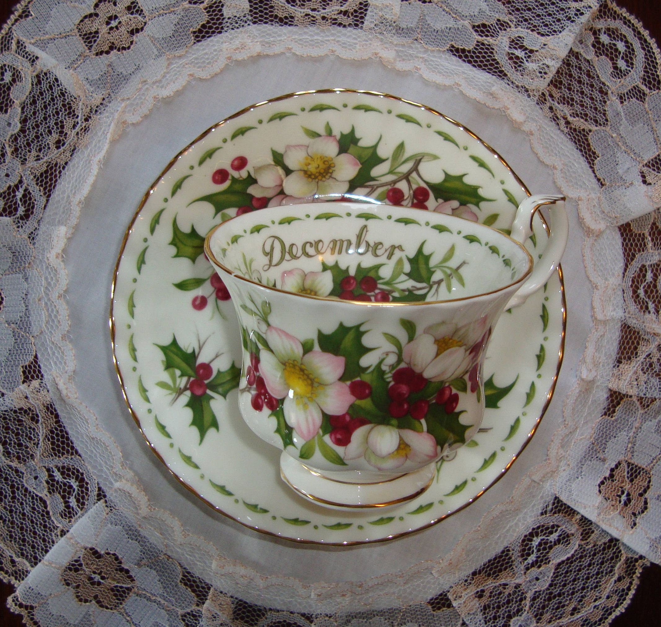 Royal Albert Christmas Rose Flower of the Month Series