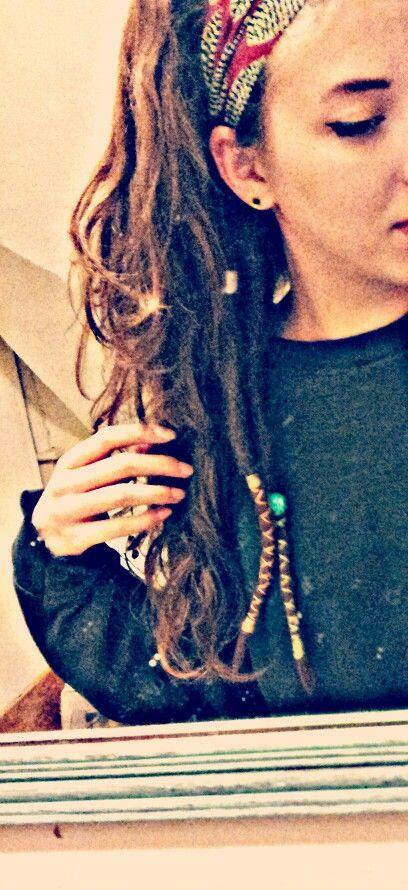 Pet Dreads Partial Dreads Wrapped Locks Deadlock Beads Hair Styles Dreads Hair Beauty