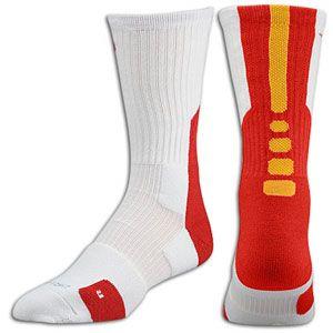 97107b323 Nike Elite 2.0 Basketball Crew Sock - Men's - White/University Red/ University Gold