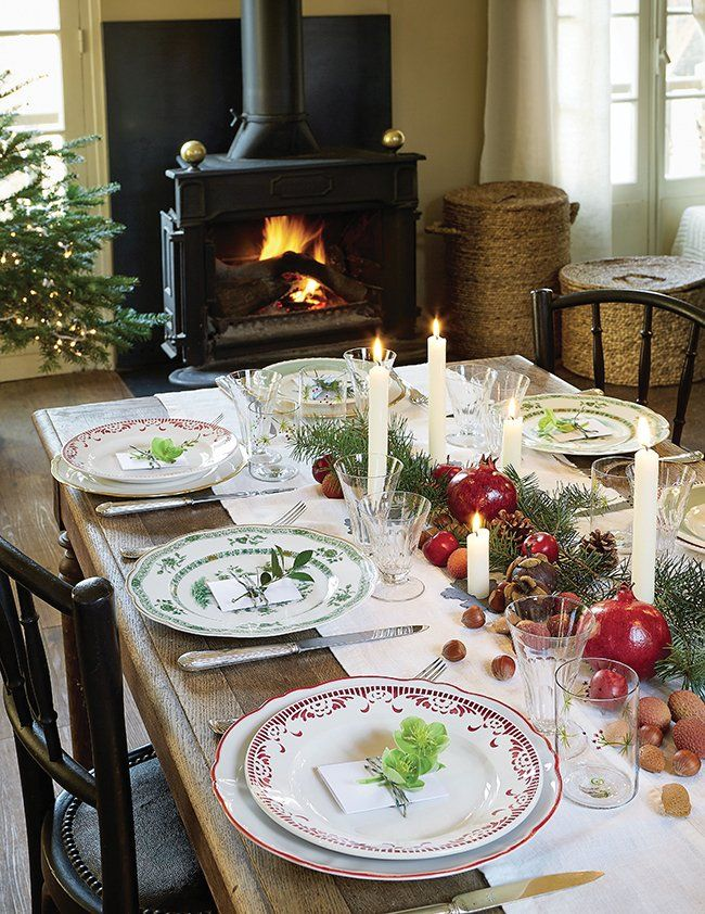 Noël DIY 8 idées pour des fêtes Slow Life Table de noël