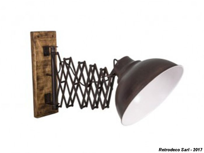 Applique métal industrielle téléscopique antic line seb15263 ambiance déco industrielle pour