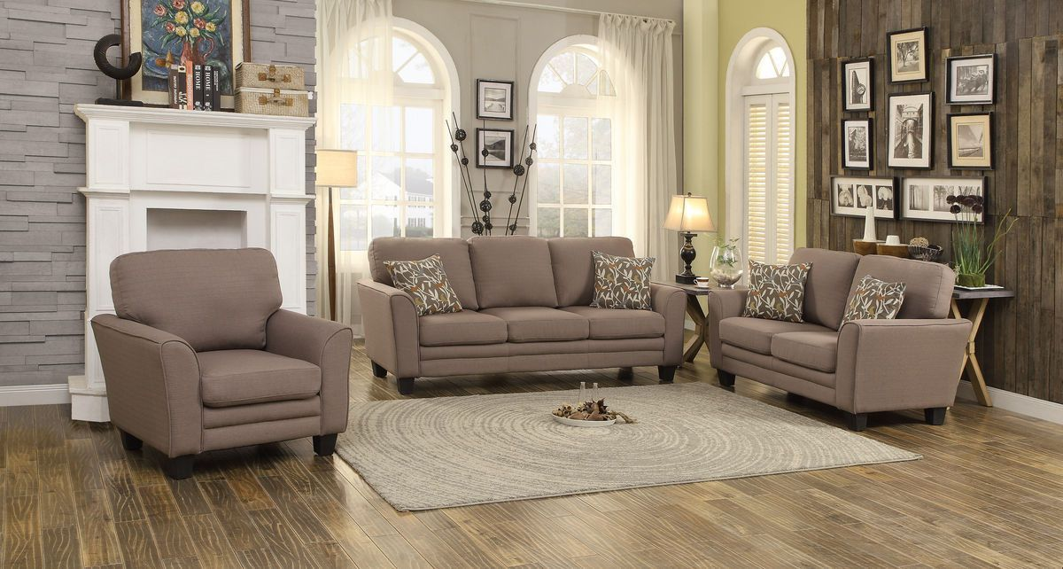 Adair Collection 3Pcs Sofa Set 8413GY-3