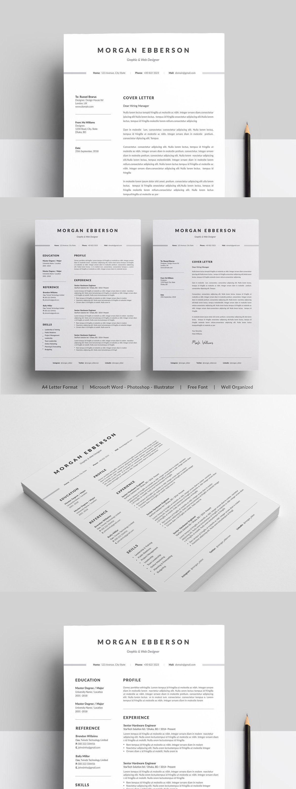 Resume in 2020 Clean resume template, Resume template