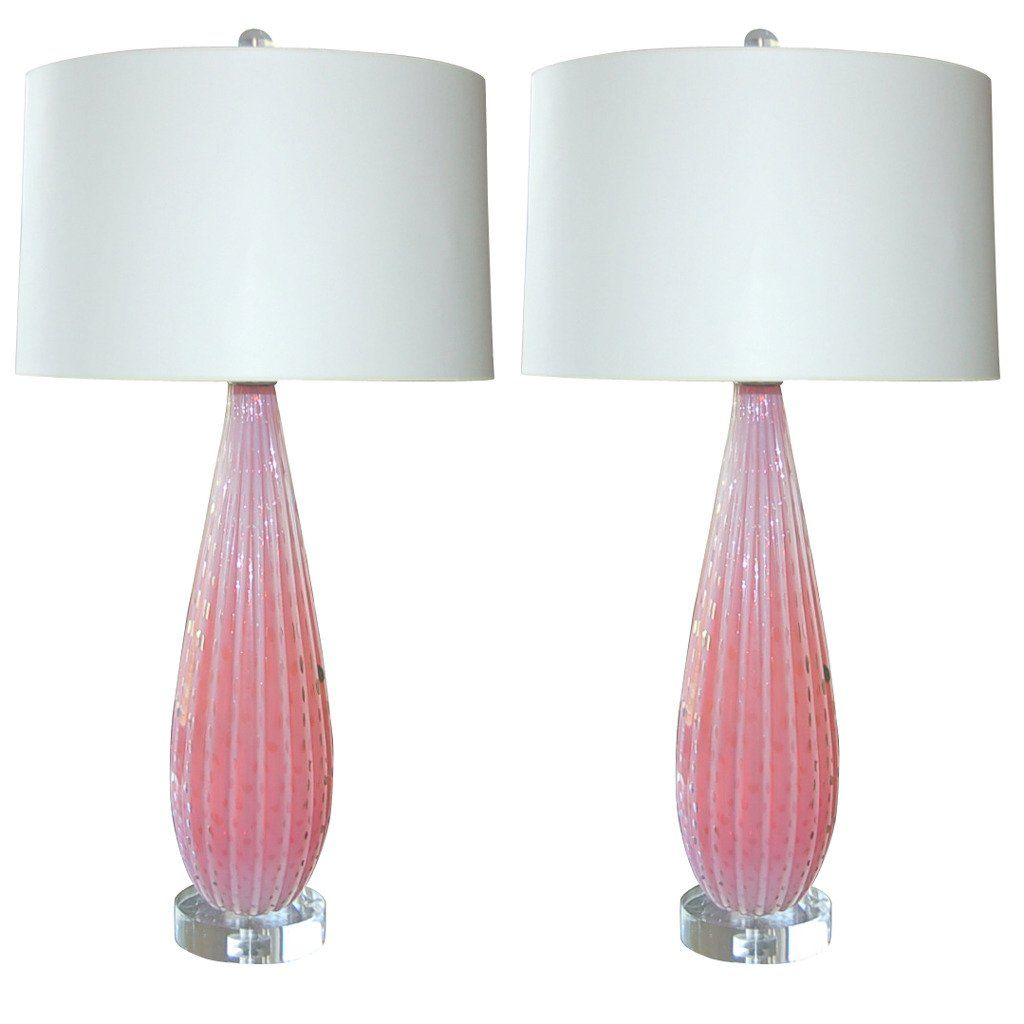 Pink Murano Opaline Table Lamps By Barbini | See More Antique And Modern Table  Lamps At