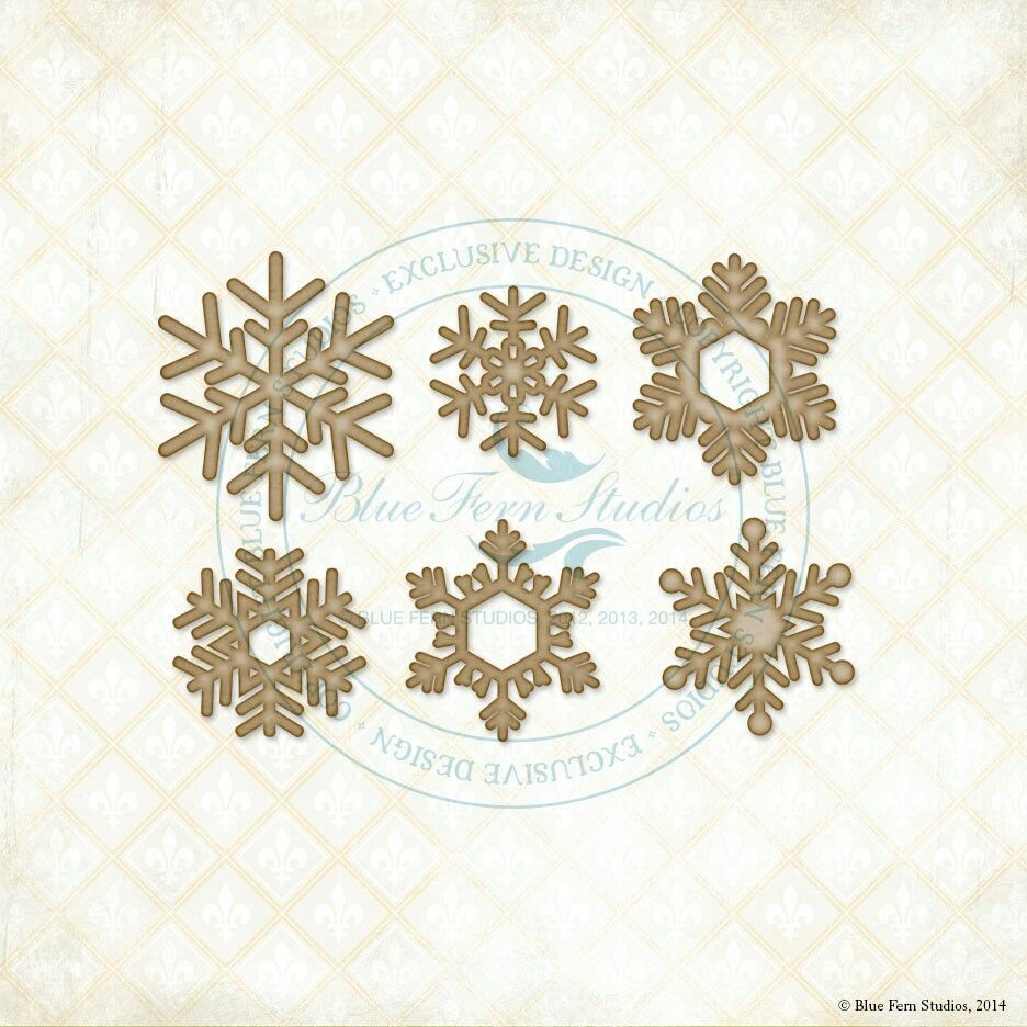 Blue Fern Studios Winter Flakes