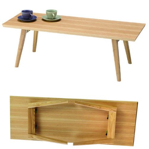 Folding Center Coffee Table Square Top Legs Foldable Compactible