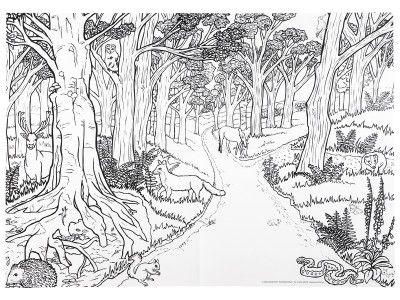 Bilder zum ausmalen f r erwachsene 07 tree and leaves - Baum malen ...