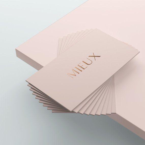 Pink Business Card Gold Foil Business Card Classy Business Card Elegant Business Card Business Classy Business Cards Foil Business Cards Pink Business Card