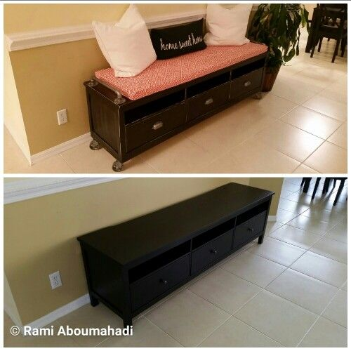 Admirable Ikea Tv Stand Converted Into Rustic Sitting Bench Diys Download Free Architecture Designs Barepgrimeyleaguecom