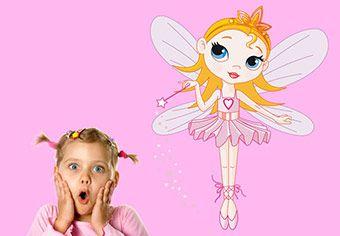 Cute Fairy Nursery Wall Sticker - Cute Girls Room Decor