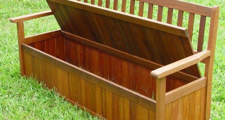 34 Appealing Teak Outdoor Storage Bench Ideas Wooden Garden