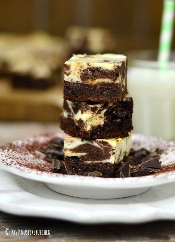 Cremige Wite Chocolate Marmor Brownies