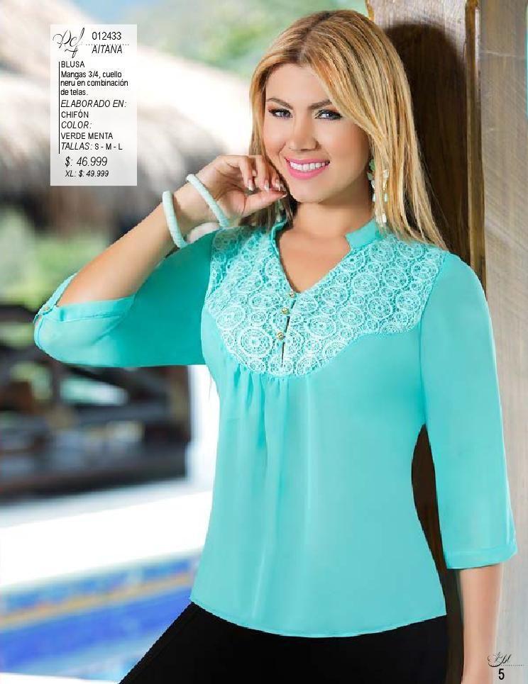 15f84ec2 Pdf ed 30 | Vestimenta mujer - consejos | Blusas mujer, Blusas de ...
