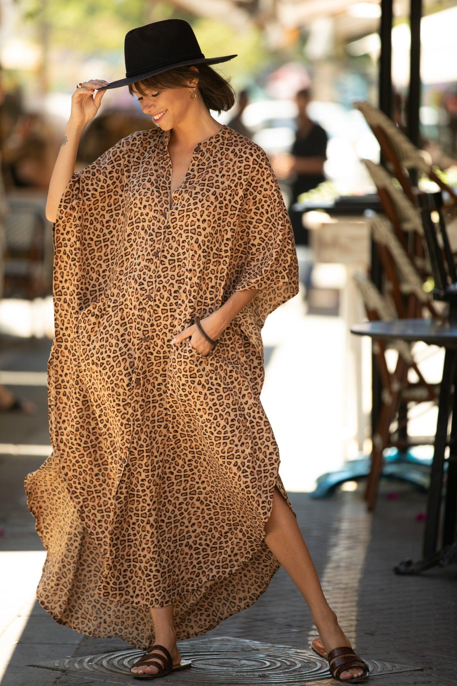 Leopard Print Oversize Kaftan Maxi Dress Boho Hipster Caftan Etsy Kaftan Maxi Dress Boho Maxi Dress Maxi Dress [ 2382 x 1588 Pixel ]