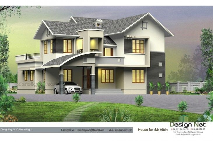 Modern Kerala Style 4 Bhk Bungalow Villa Design