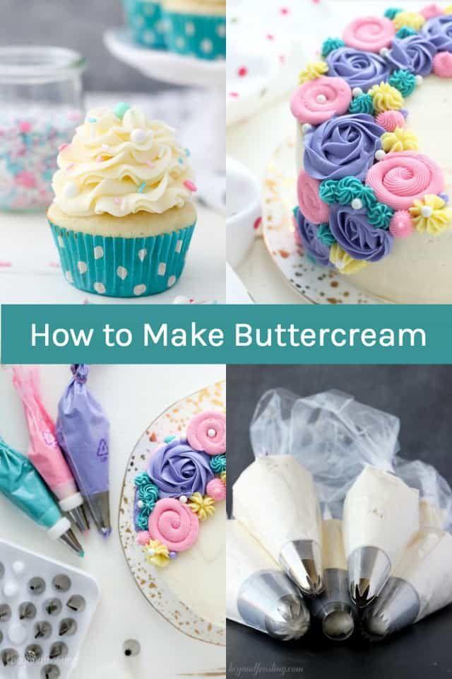 How To Make Buttercream Frosting Easy Homemade Recipe Recipe Frosting Recipes Buttercream Frosting Recipe Cake Decorating Frosting