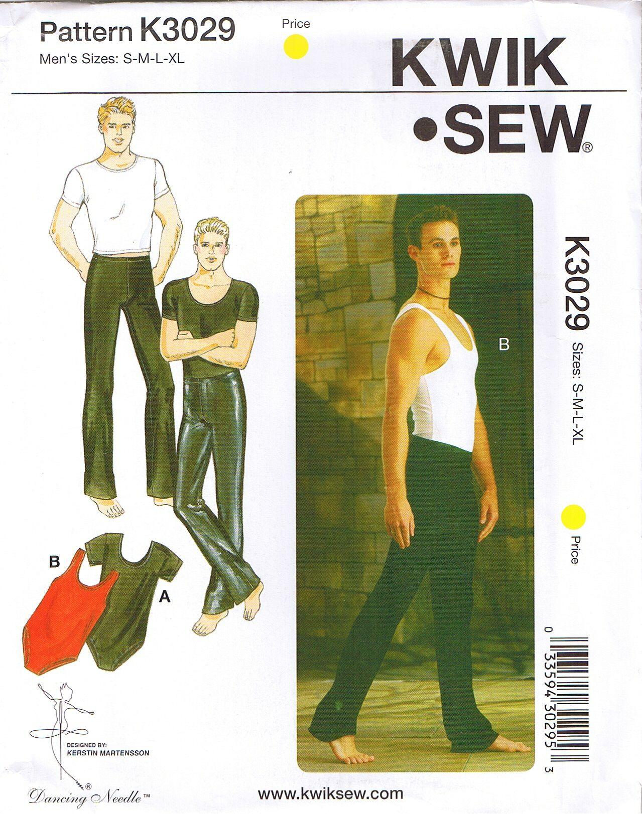 Mens dance wear pants t shirt leotard kwik sew sewing pattern sz kwik sew 3029 mens dance wear sewing pattern available for sale in my ebay store jeuxipadfo Choice Image