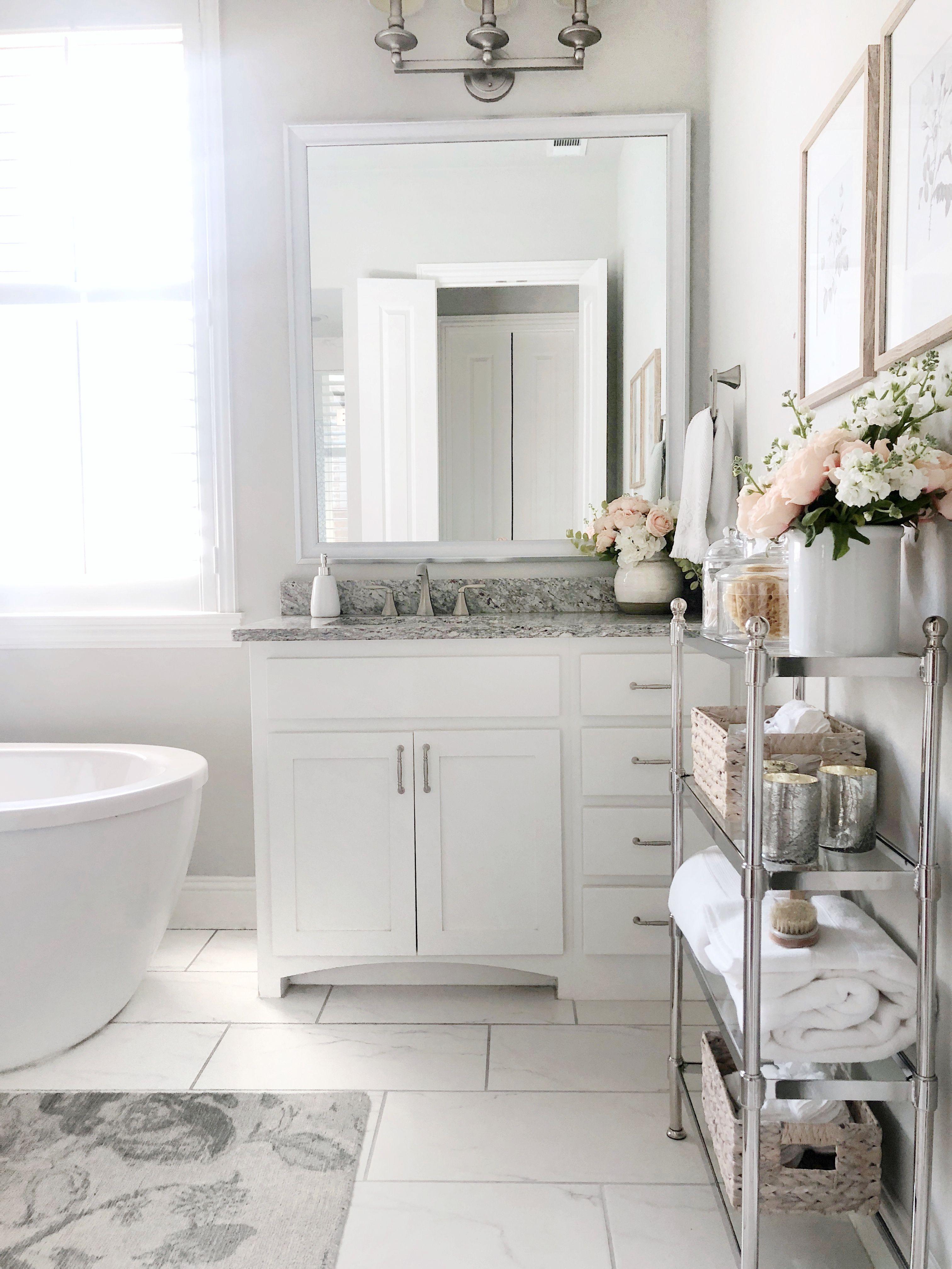 Pottery Barn Storage Solutions Bathroom Decor Marble Tile