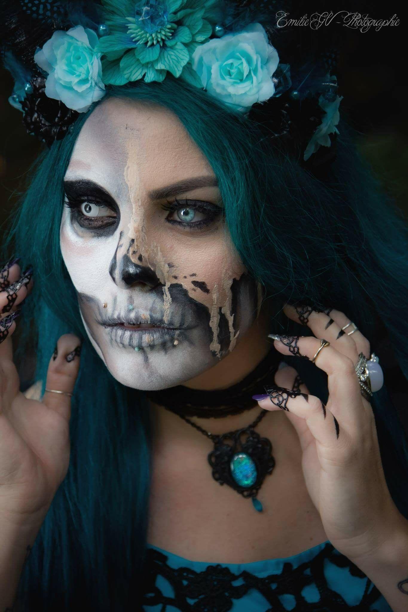 Anais Fabre Nue shoot dark féerique modèle et make up little diamond coiffe