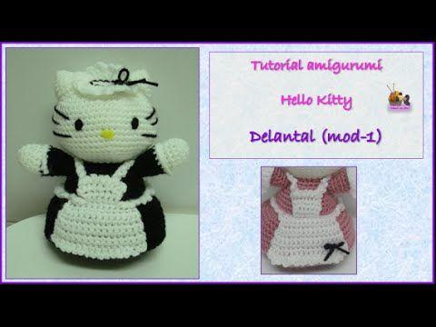 Tutorial amigurumi Hello Kitty - Delantal (mod-1) - YouTube | Místa ...