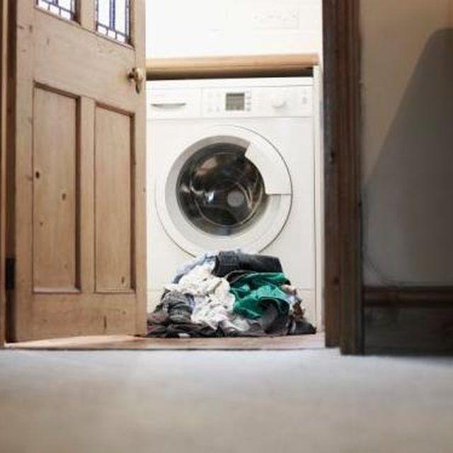 Keep white vinegar in the laundry room.