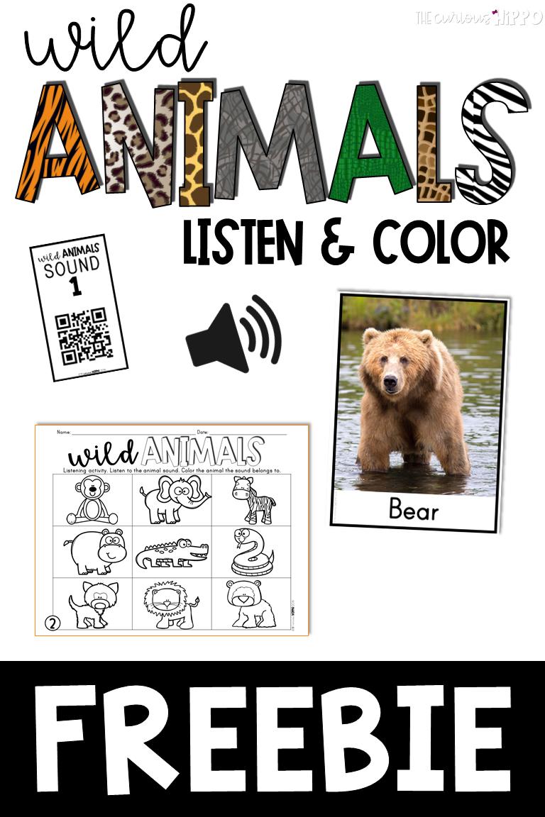 Free Listening Activities For Kids Listening Activities For Kids Animal Activities For Kids Zoo Activities Preschool [ 1152 x 768 Pixel ]