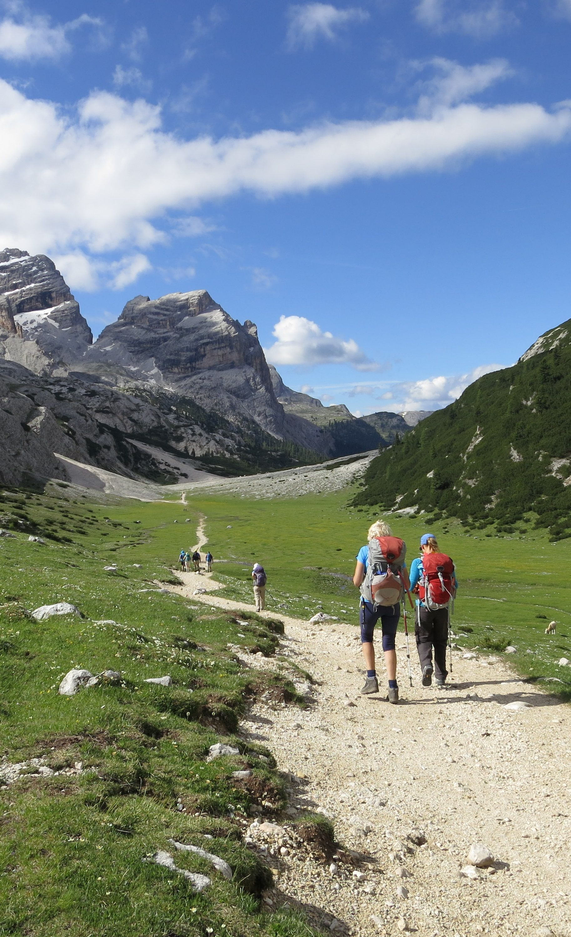 Beautiful Scenery On The Alta Via 1 Hut To Hut Hike In The