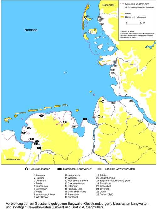 Arbeitsgebiet Des Nordseehafen Projekts Holland Kaarten