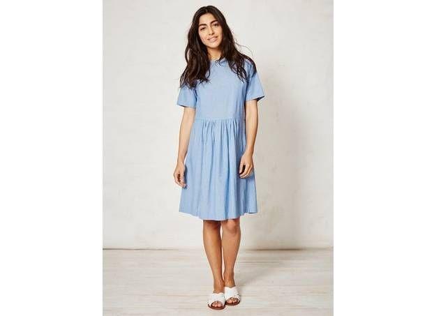 Licht Blauwe Jurk : 50% lichtblauwe jurk in biokatoen van braintree clothing :: le