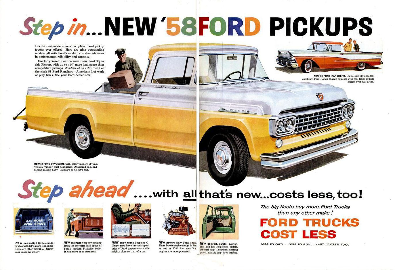 1958 Ford Truck Ad 02 Ford Trucks Ford Pickup Trucks Classic