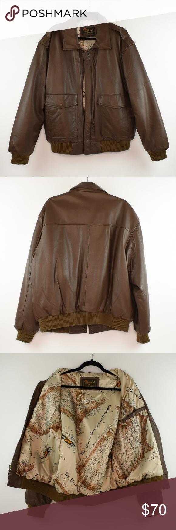 Reed Sportswear Brown Leather Jacket B23 Leather Jacket Brown Leather Jacket Genuine Leather Jackets [ 1740 x 580 Pixel ]