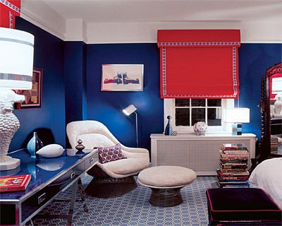 Red And Royal Blue Emily Henderson Stylist Blog Blue Rooms Room Colors Modern Interior Decor