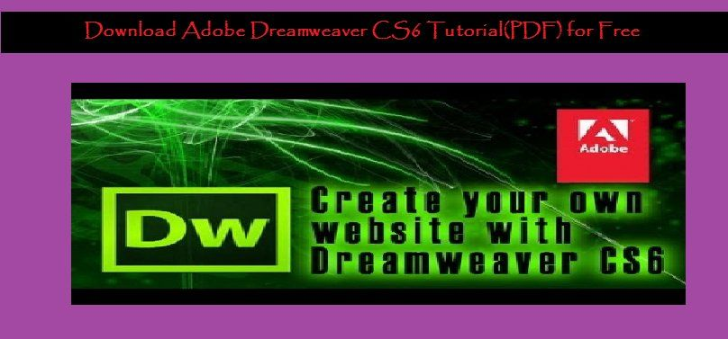 Download Adobe Dreamweaver Cs6 Tutorial Pdf For Free Adobe Dreamweaver Dreamweaver Tutorial