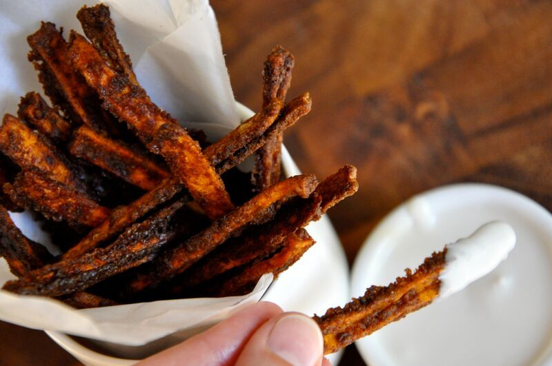 Sweet Potato Fries with Maple Dip | Real Healthy Recipes
