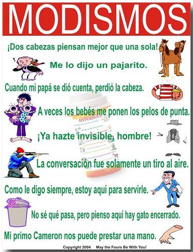 Modismos Spanish Language Spanish Teaching Resources Spanish Idioms