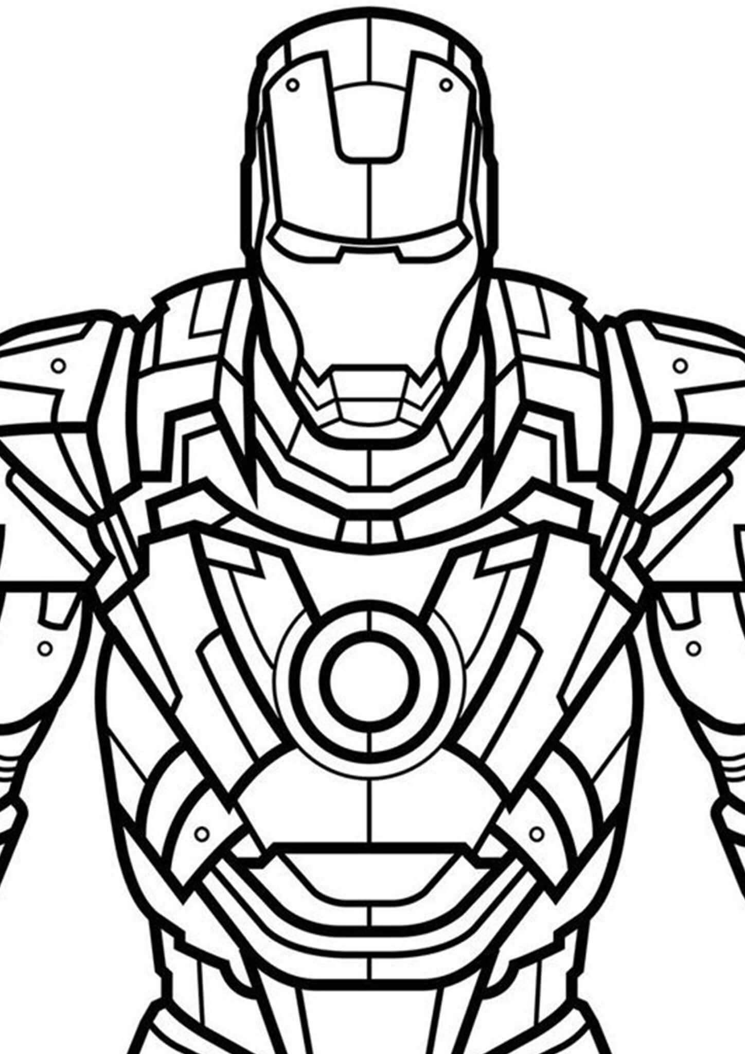 Free & Easy To Print Iron man Coloring Pages   Avengers coloring ...