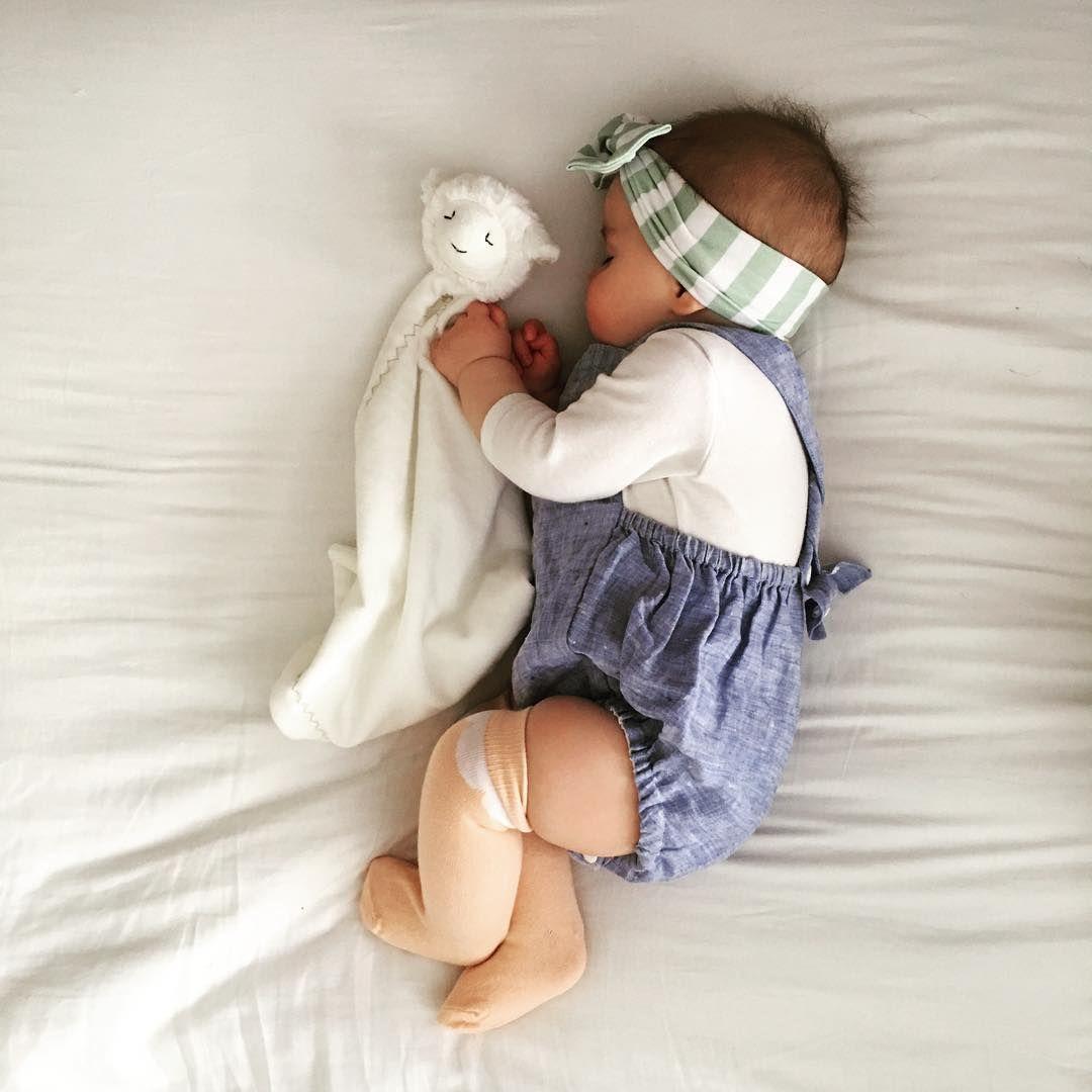 Chambray Romper Bow Socks Baby Hats Knitting Baby Hat