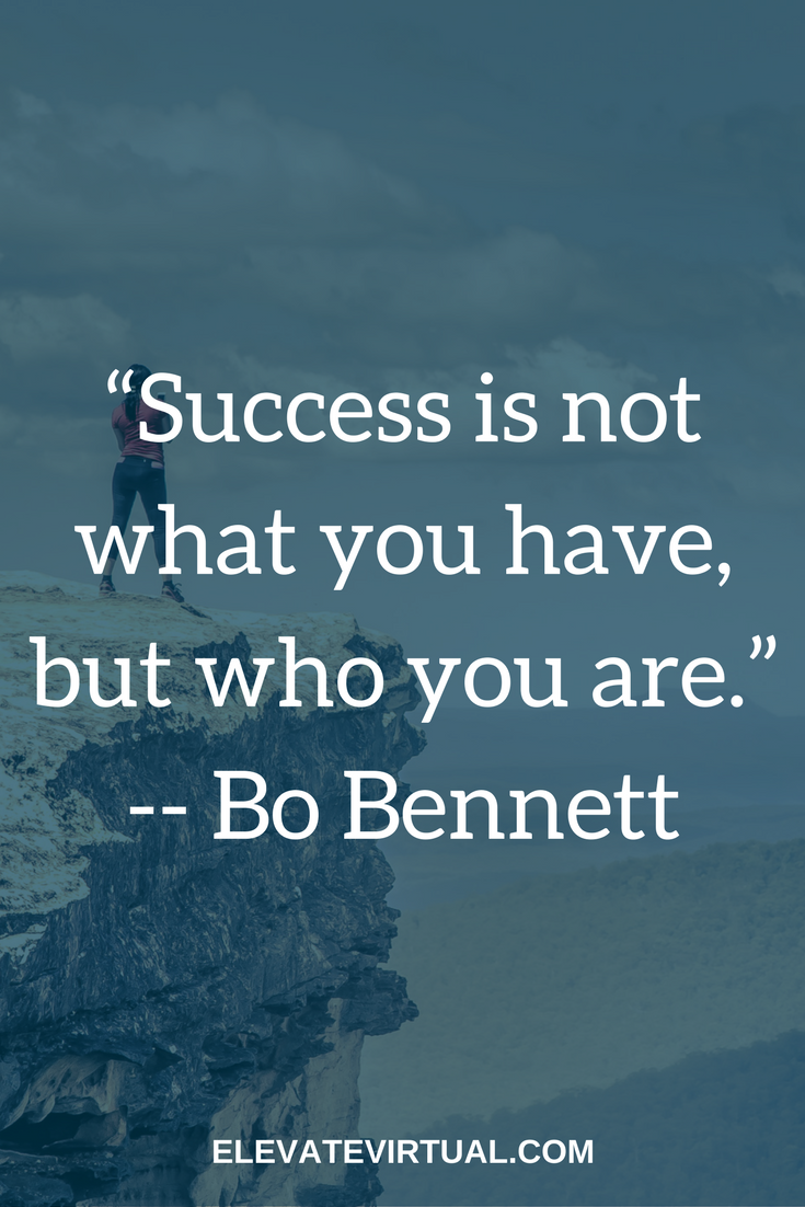 """Inspiring Quotes For Success In Life Inspirational Quote""""success Is Not What You Have But Who You"""
