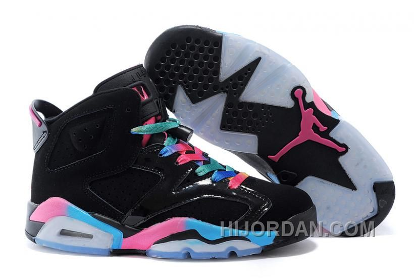 release date: e7c78 4cb99 Air Jordan 6 Retro GS Black Pink Flash-Marina Blue Womens Size PS6Ba,  Price   88.00 - Air Jordan Shoes, Michael Jordan Shoes