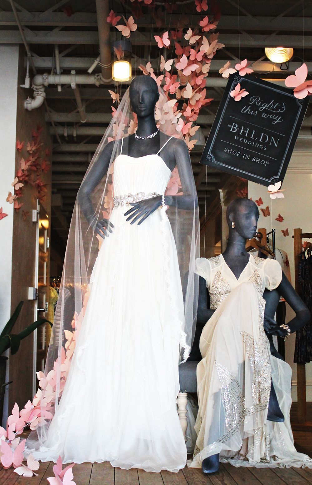 NESTLED IN THE HEART OF BEVERLY HILLS, amidst chic boutiques and eateries, our third and newest bridal shop is perched on the mezzanine level of our sister brand, Anthropologie's Beverly Drive store. #bridalshops