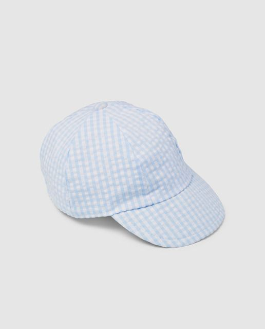 Gorra de bebé niño Dulces azul a cuadros en 2019  530ace31774